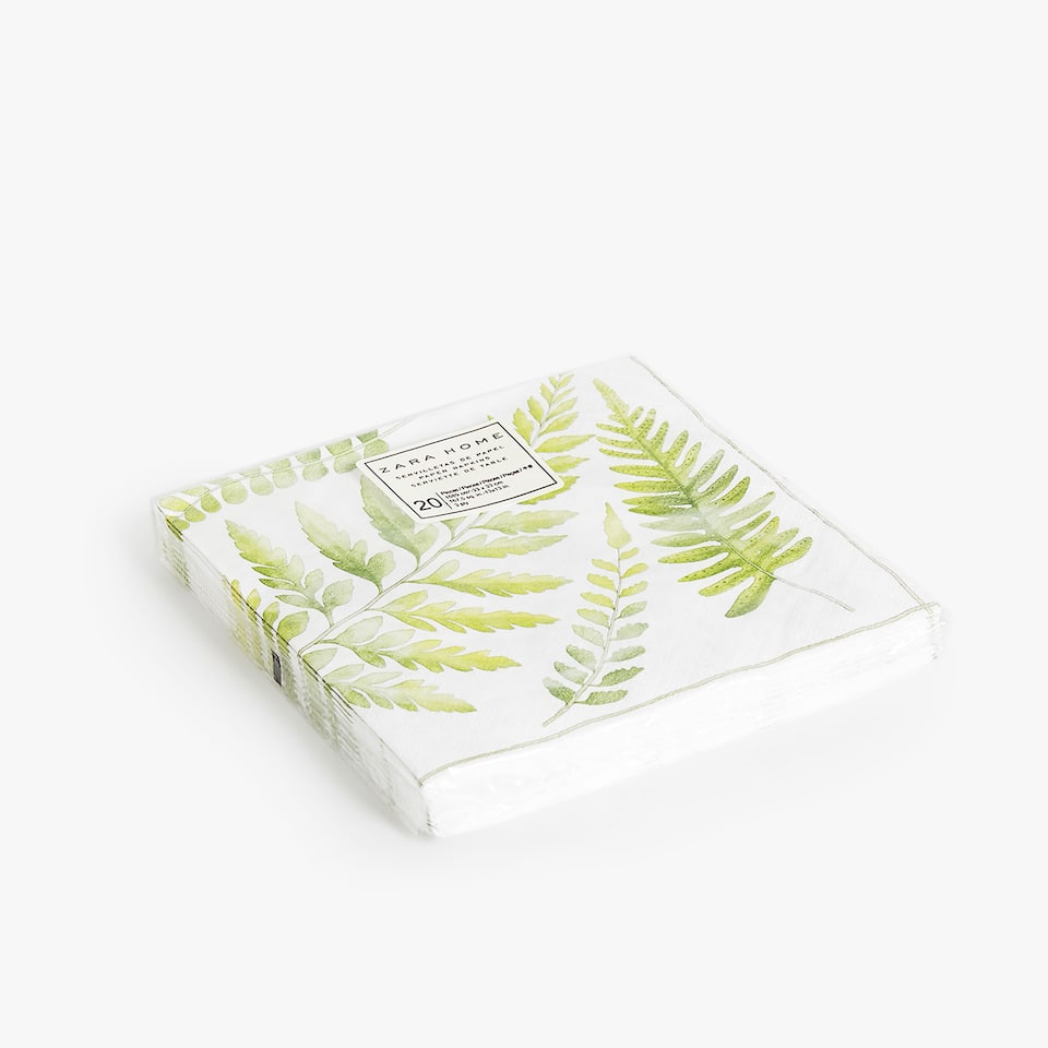 Leaf paper napkins (set of 20)