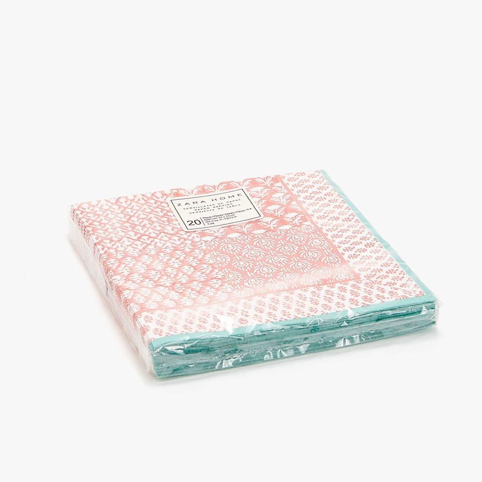 Patchwork paper napkins (set of 20)