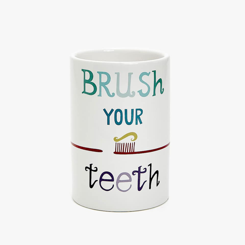CERAMIC TUMBLER WITH MESSAGE