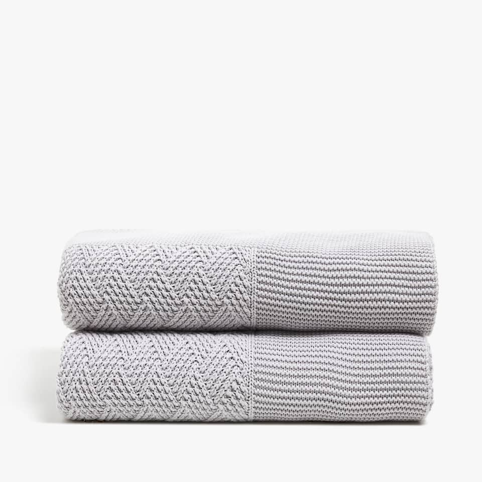 DIAMOND KNIT COTTON BLANKET