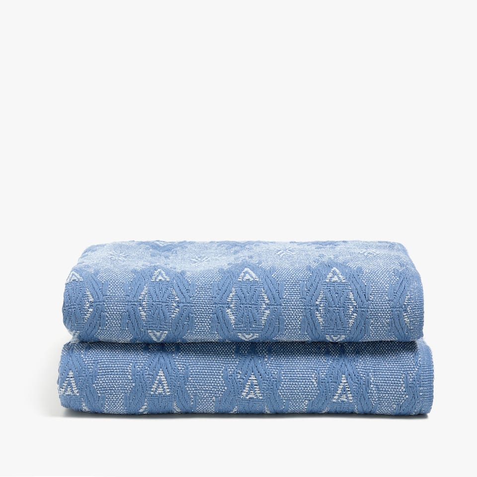 FADED-EFFECT DIAMOND PRINT BLANKET