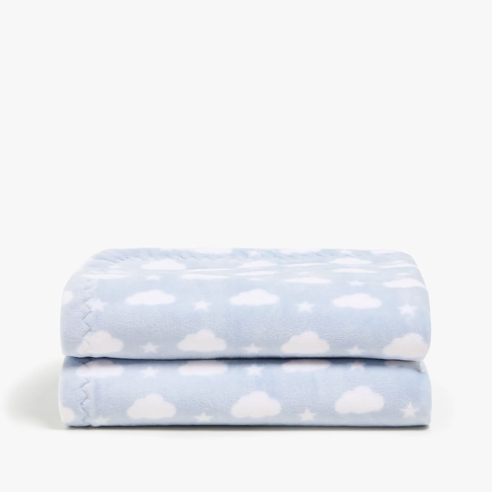 FLEECE STARS AND CLOUDS BLANKET