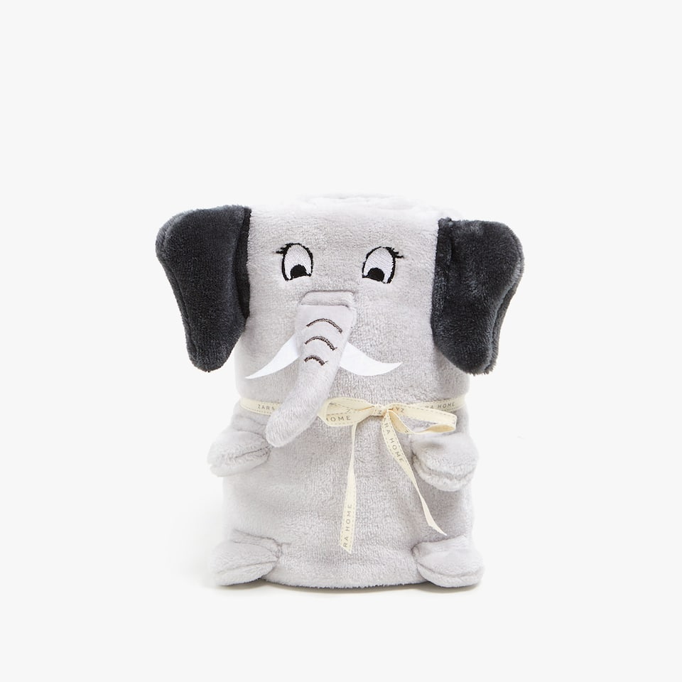 FLEECE ELEPHANT DOLL BLANKET