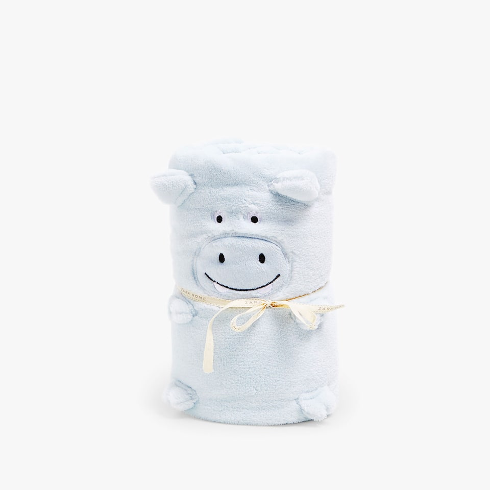 FLEECE HIPPO DOLL BLANKET