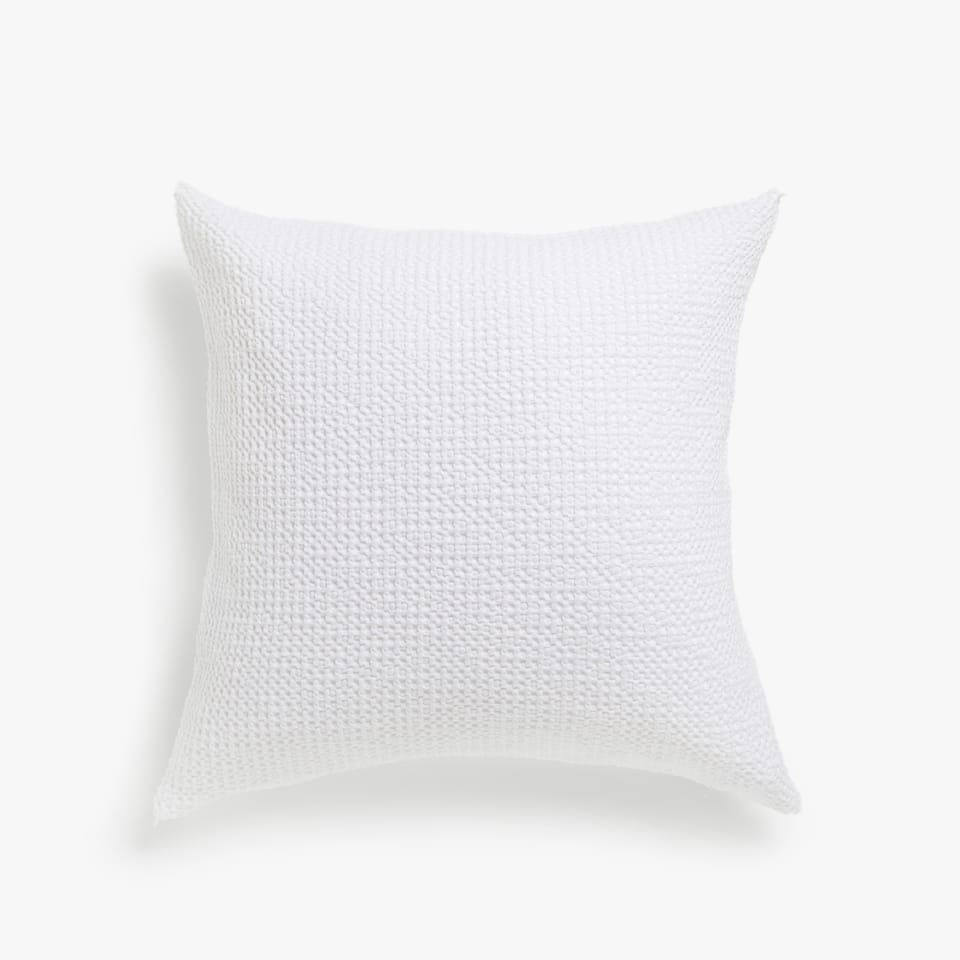 WAFFLE KNIT COTTON CUSHION COVER