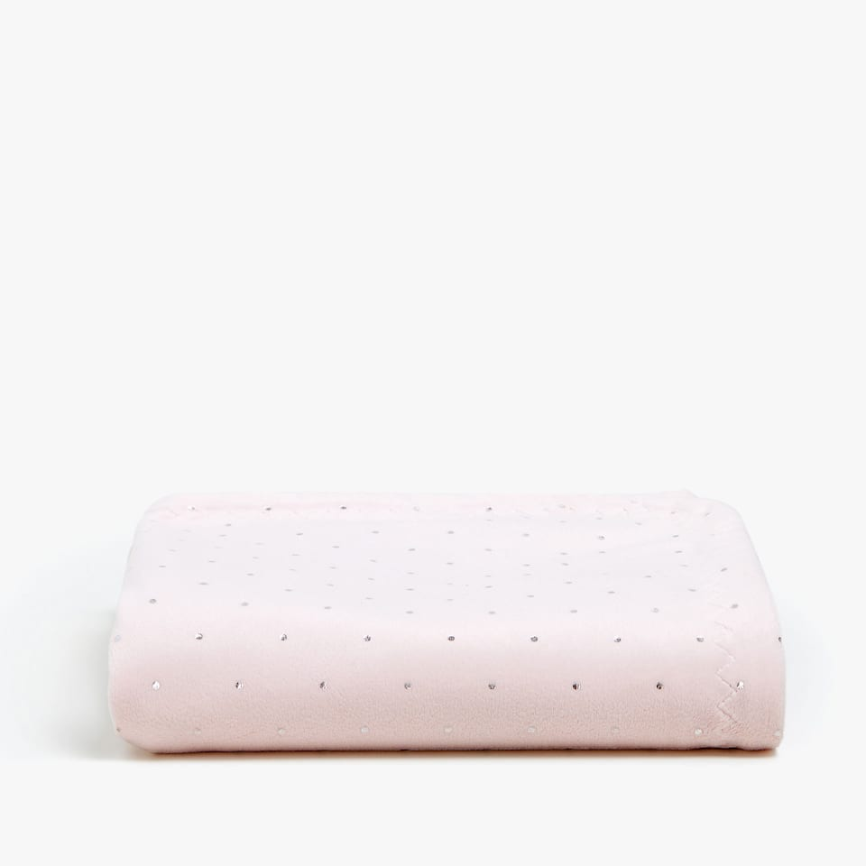 LITTLE METALLIC POLKA DOTS FLEECE BLANKET