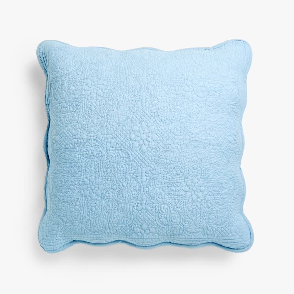 FLORAL DESIGN COTTON CUSHION COVER IN PASTEL TONES