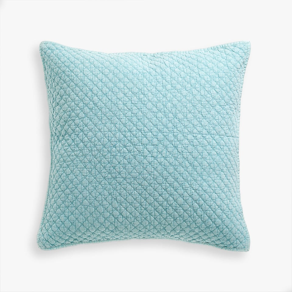 RAISED POPCORN DESIGN FADED COTTON CUSHION COVER