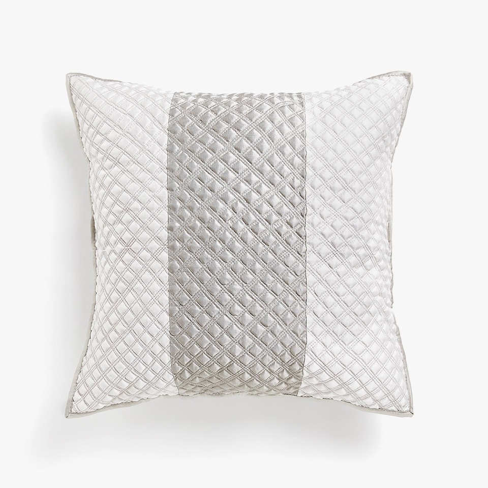 TWO-TONE MINI DIAMOND PATTERN CUSHION COVER