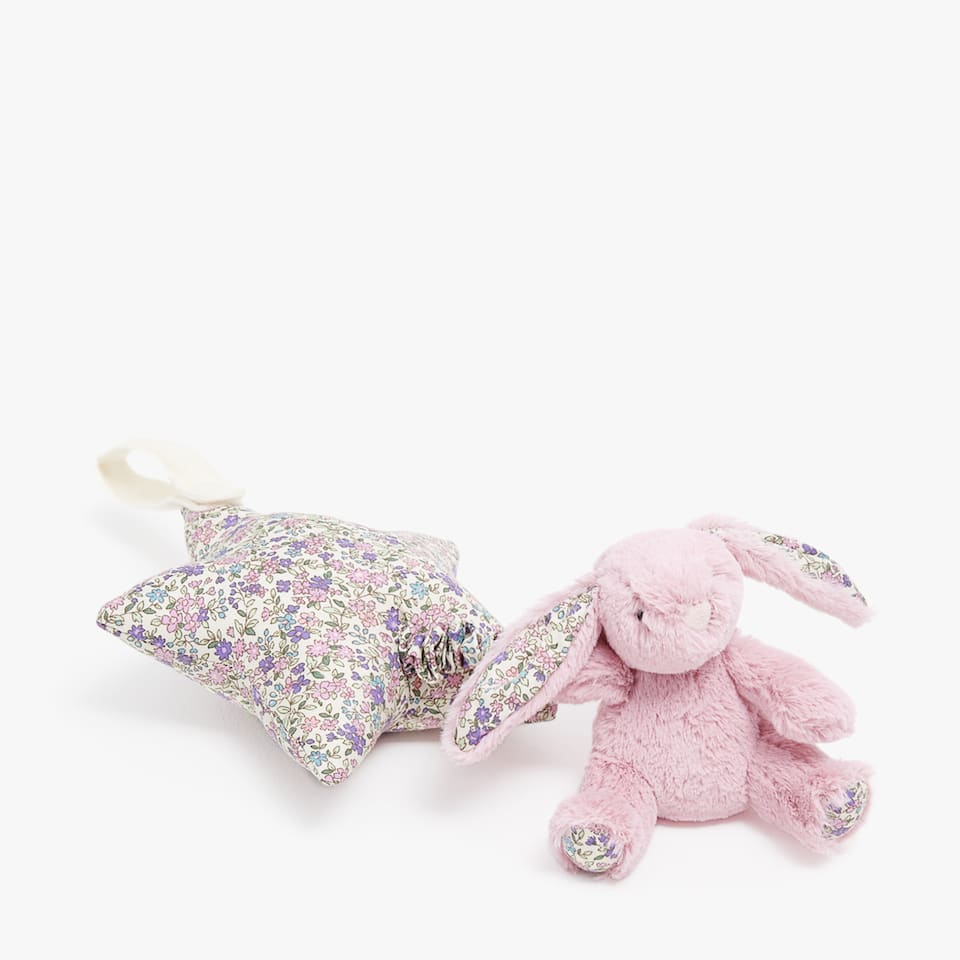 Musical bunny soft toy