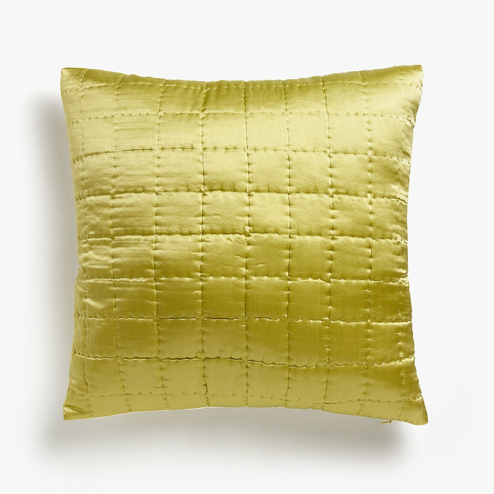 COTTON AND SILK CUSHION COVER