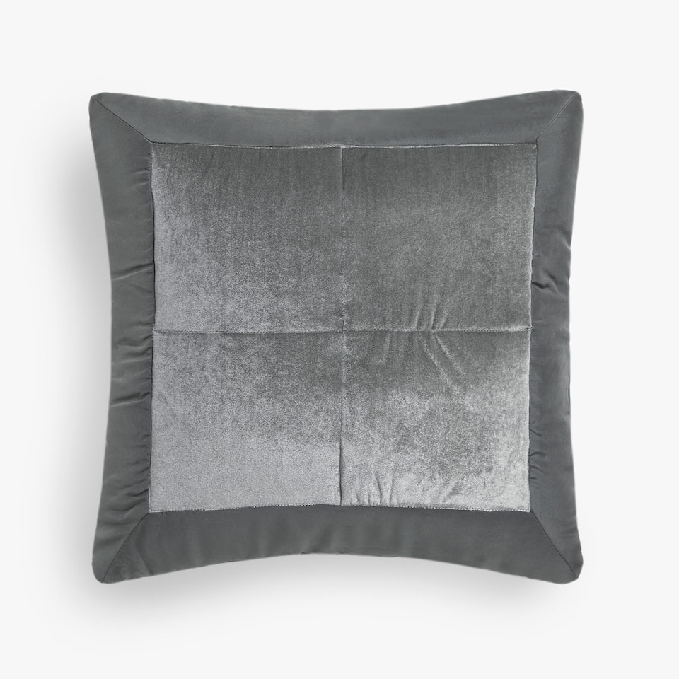 LIGHT SILK-EDGED VELVET CUSHION COVER