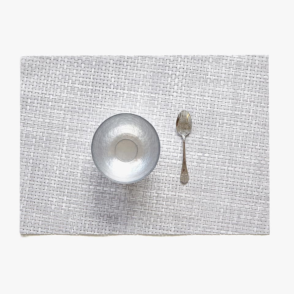 CROSSWEAVE PLASTIC PLACEMAT (SET OF 2)