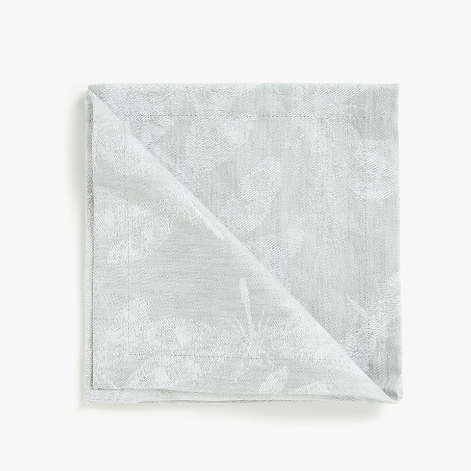 LACE-TRIMMED LINEN AND COTTON JACQUARD NAPKINS (SET OF 4)