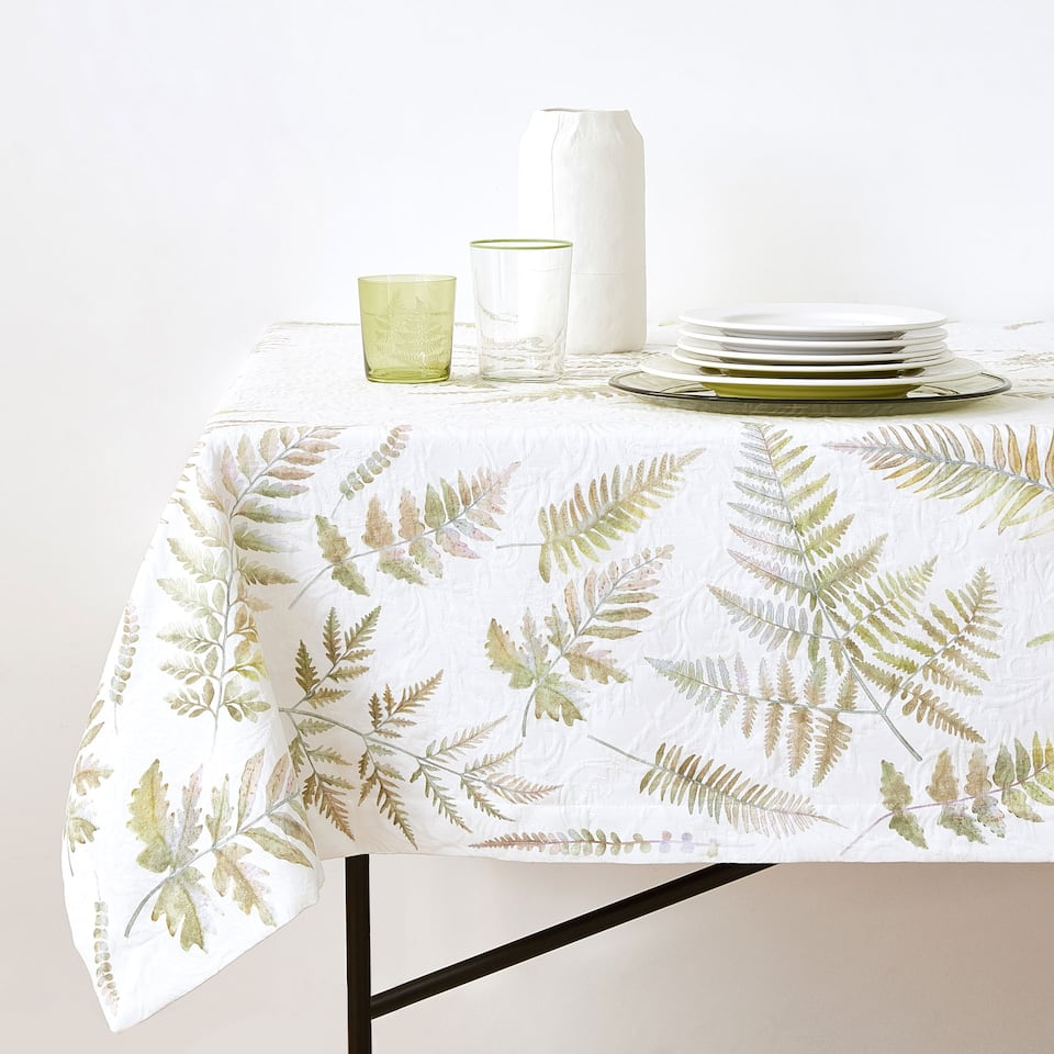 DIGITAL PRINT COTTON JACQUARD TABLECLOTH