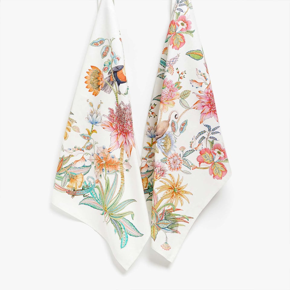 PRINTED COTTON TEA TOWEL (SET OF 2)