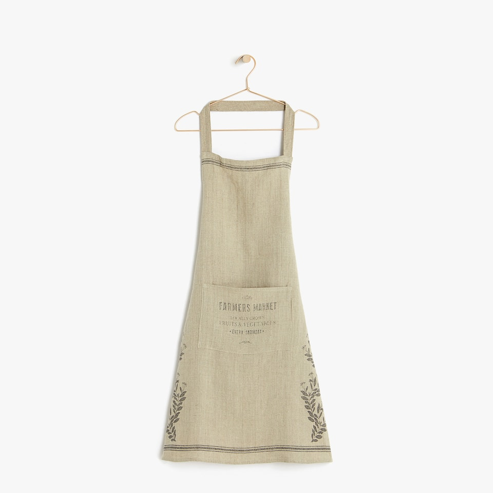 FADED LINEN APRON