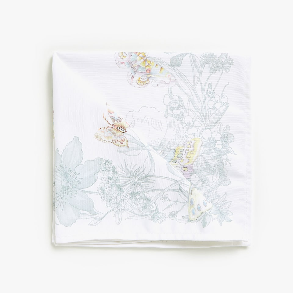 BUTTERFLY AND LEAF DIGITAL PRINT NAPKINS (SET OF 4)