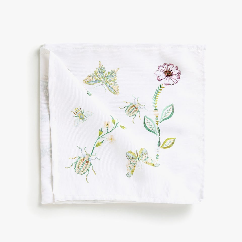 DIGITAL BUTTERFLY PRINT NAPKINS (SET OF 4)