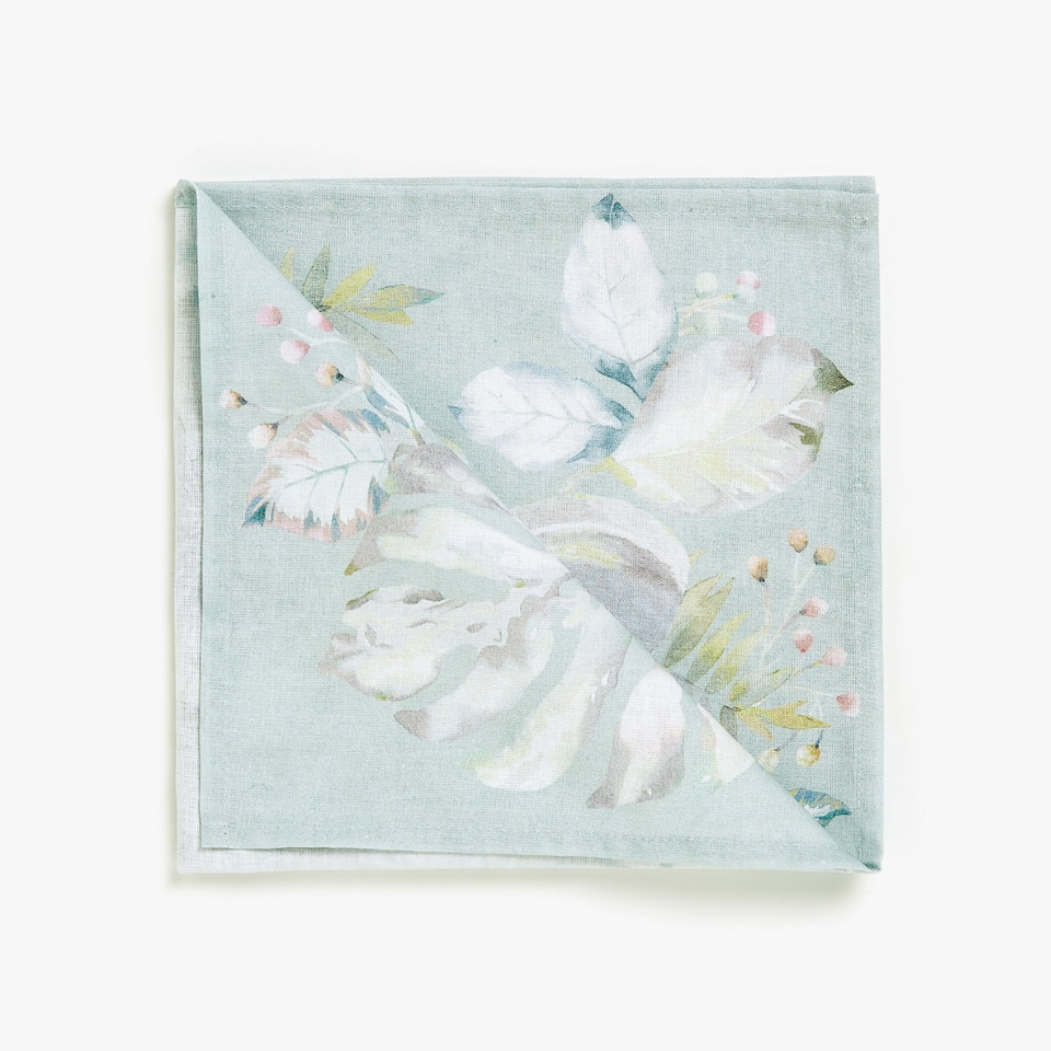 BOTANIC DIGITAL PRINT COTTON NAPKINS (SET OF 4)