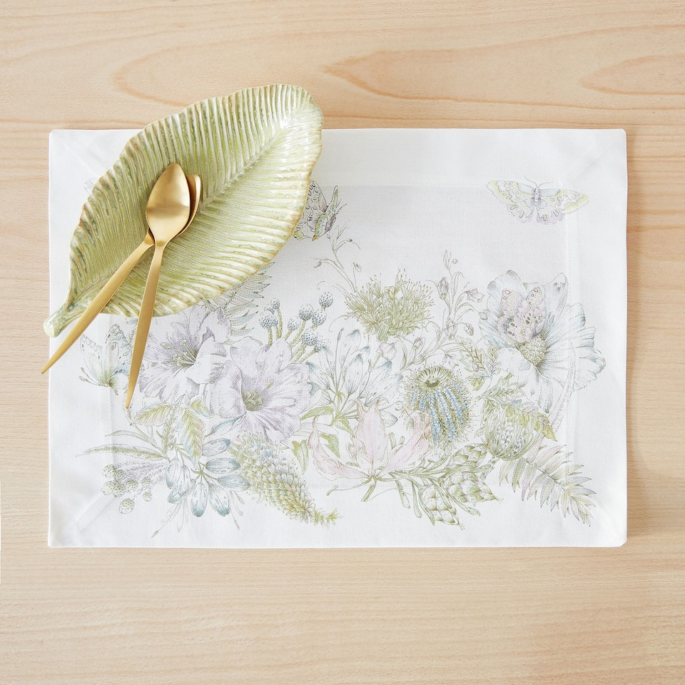 POSITIONAL DIGITAL PRINT COTTON PLACEMAT (SET OF 2)