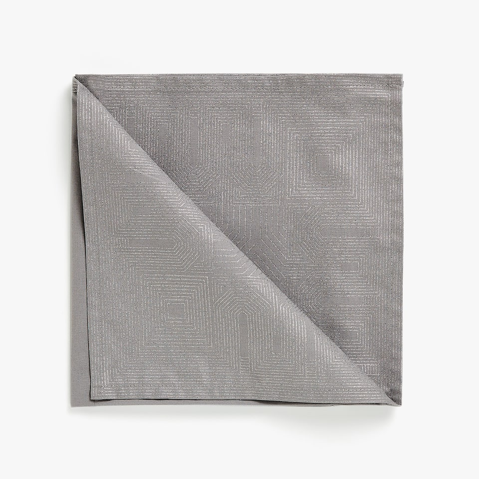 GEOMETRIC PRINT COTTON NAPKINS (SET OF 4)