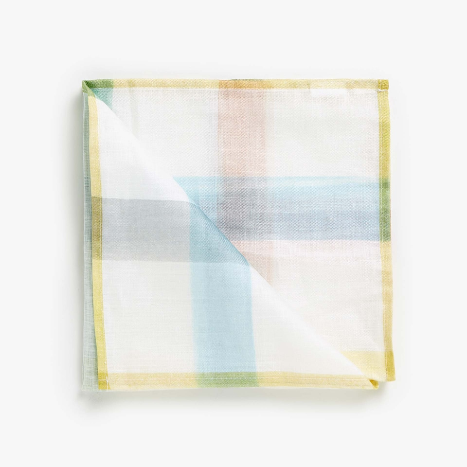 MULTICOLOUR STRIPE DIGITAL PRINT LINEN NAPKINS (SET OF 4)