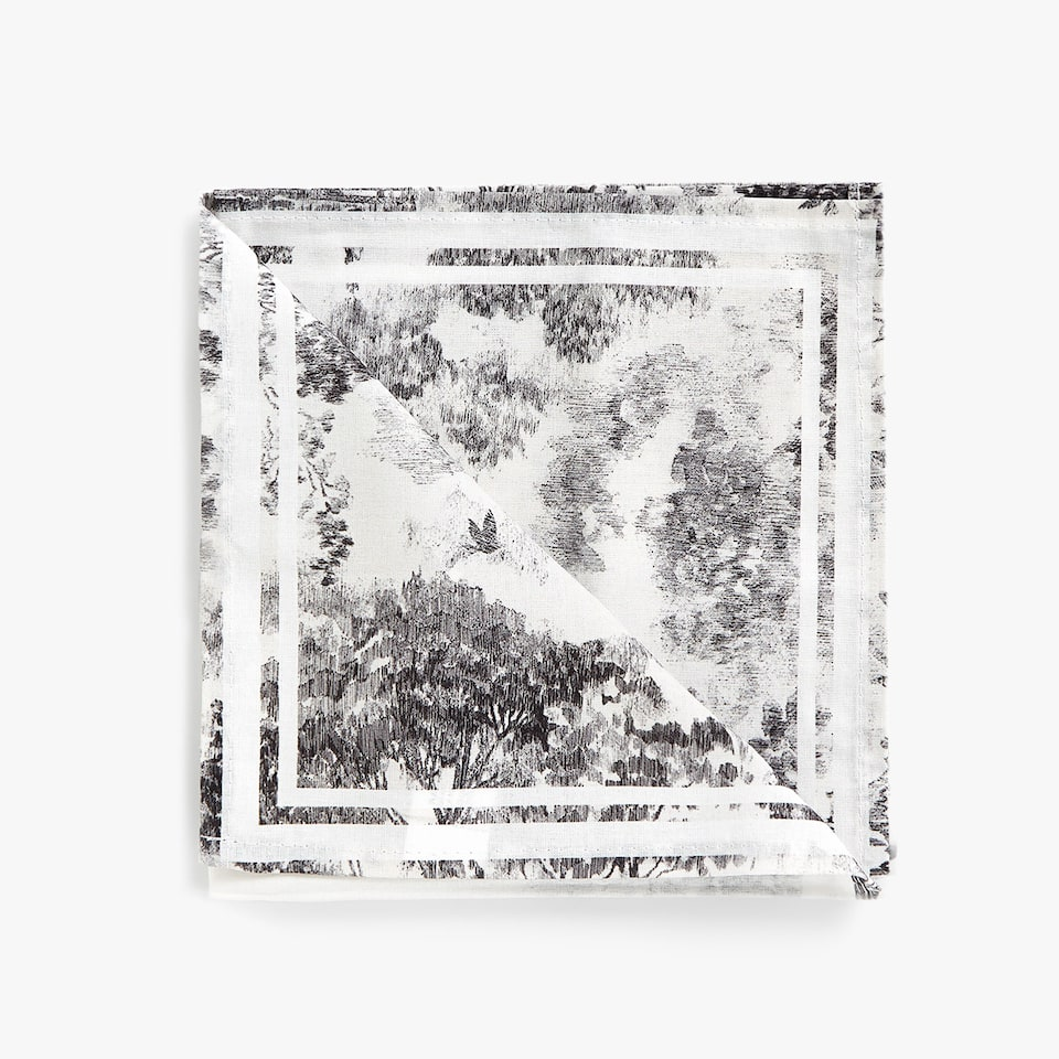 LANDSCAPE DIGITAL PRINT COTTON NAPKINS (SET OF 4)