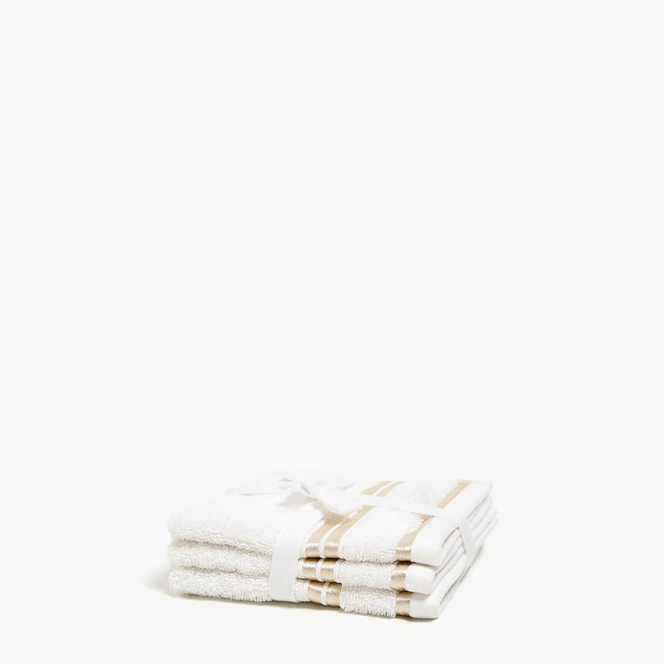 Towel with gold stripes (set of 3)