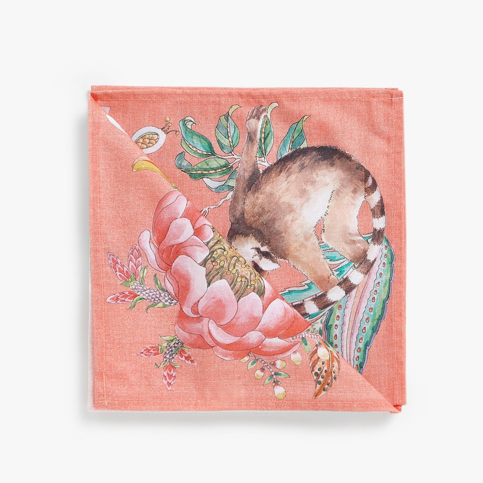 JUNGLE DIGITAL PRINT COTTON NAPKINS (SET OF 4)