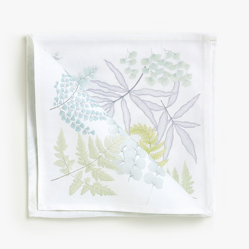 FERN DIGITAL PRINT COTTON NAPKINS (SET OF 4)