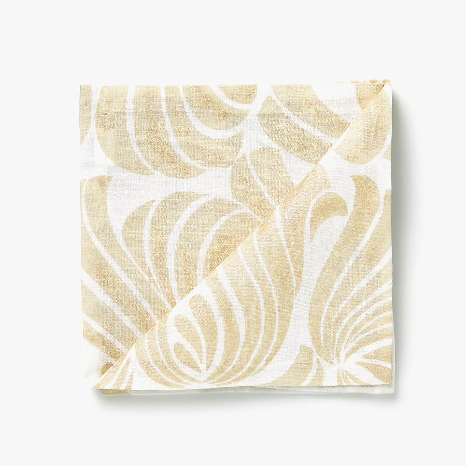 LINEN AND COTTON NAPKINS WITH DECORATIVE PRINT (SET OF 4)