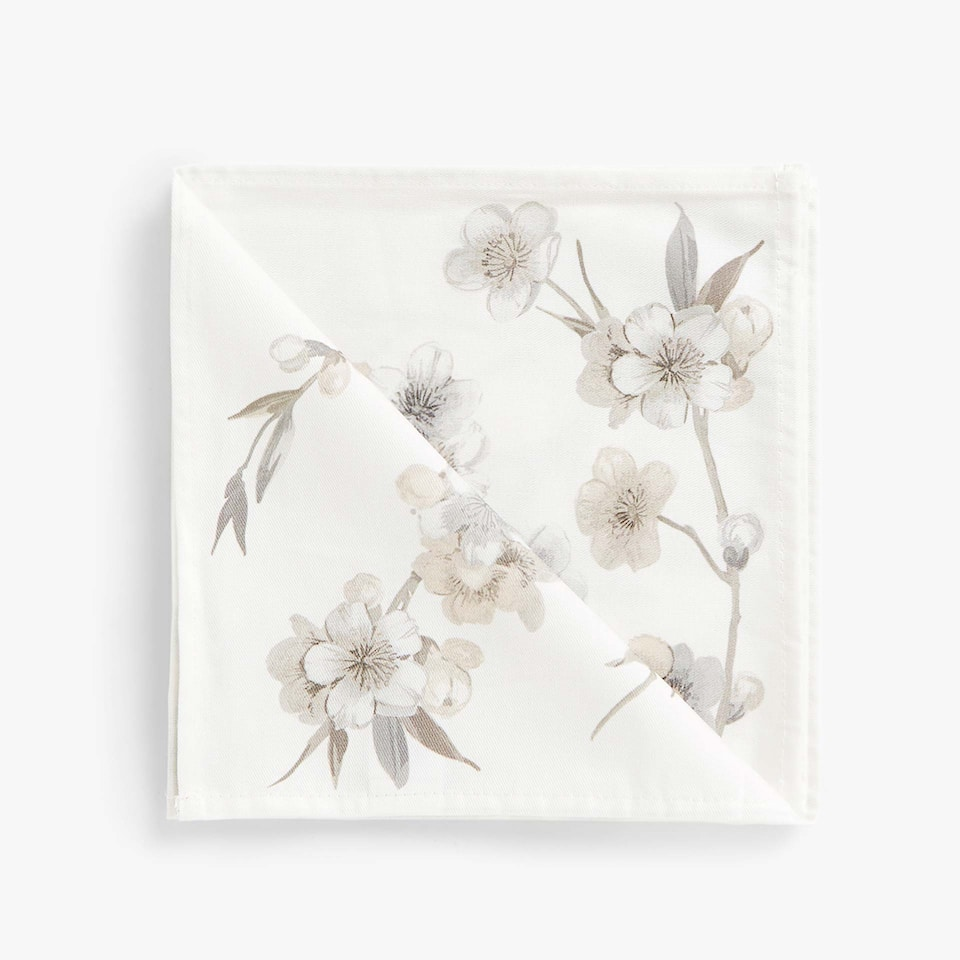 BOTANICAL COTTON NAPKINS (SET OF 4)