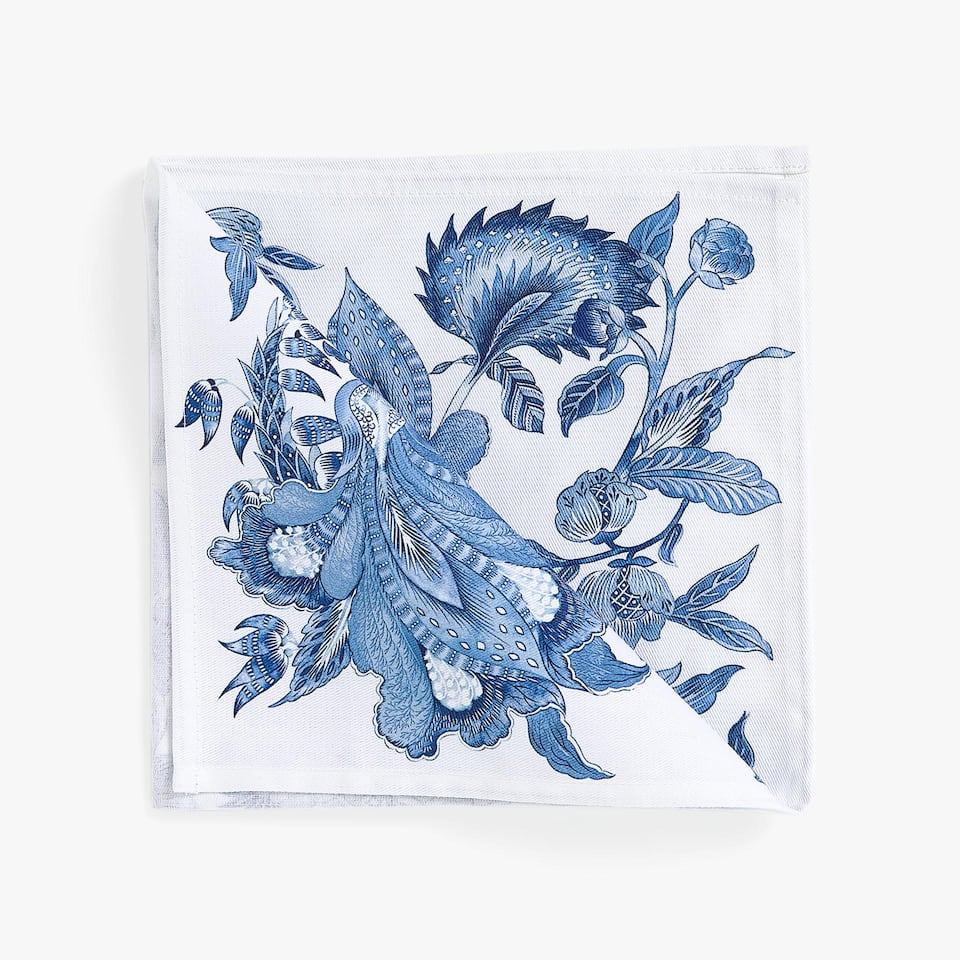 VEGETATION DIGITAL PRINT COTTON NAPKINS (SET OF 4)