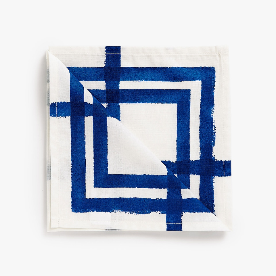 SQUARE PRINT COTTON NAPKINS (SET OF 4)
