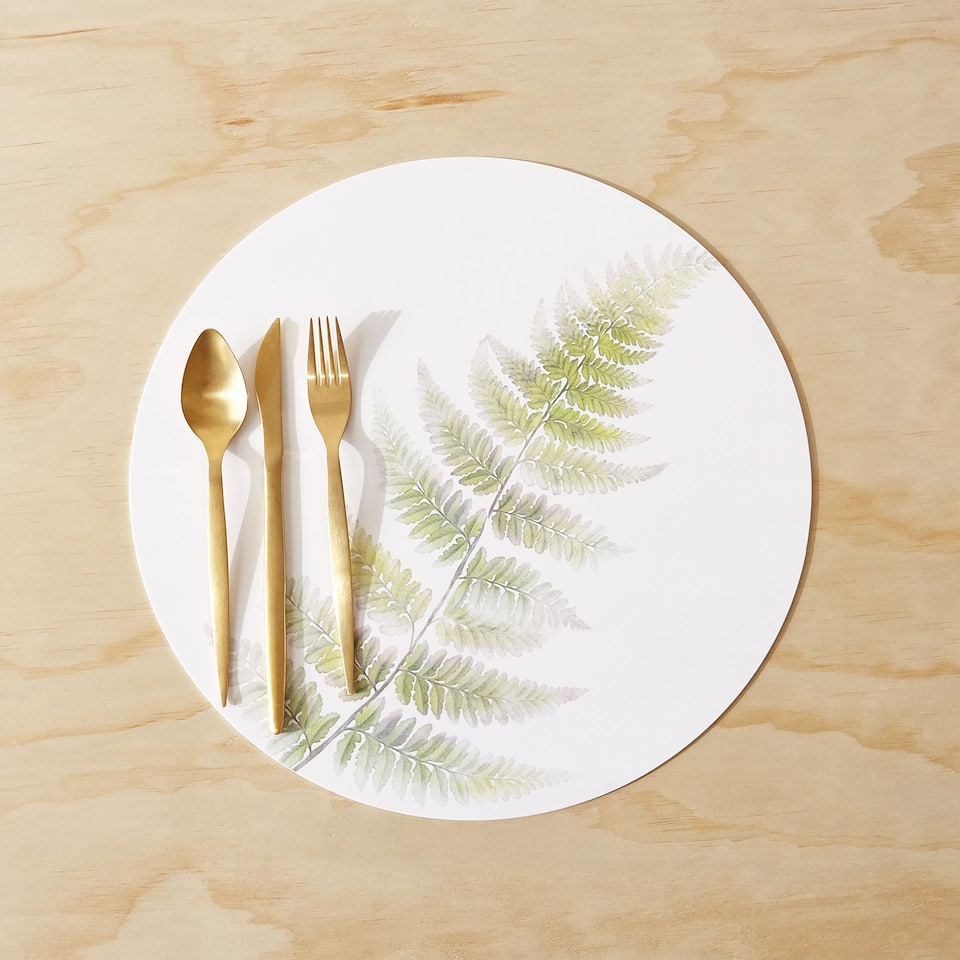 FERN PRINT METHACRYLATE PLACEMAT