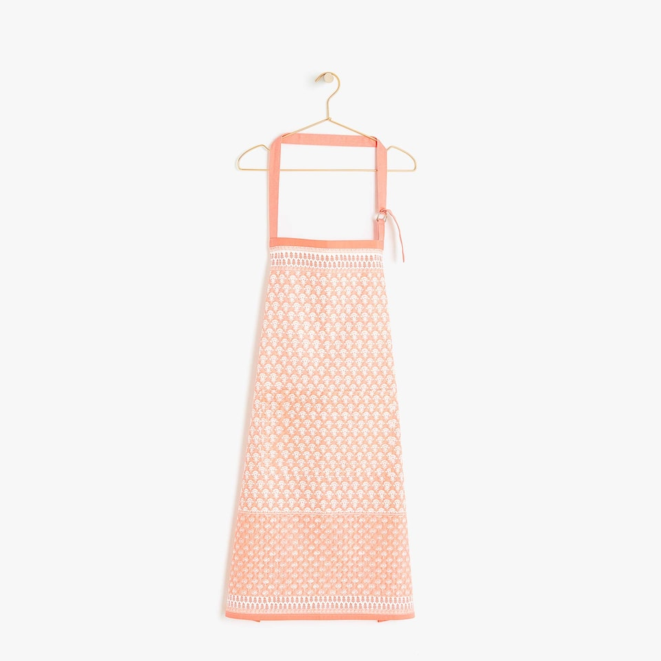 PRINTED COTTON APRON