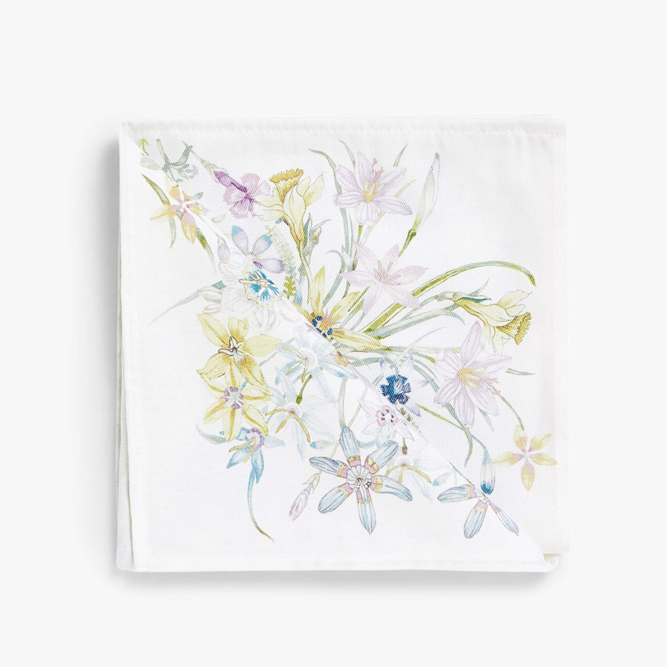FLORAL PRINT COTTON NAPKINS (SET OF 4)