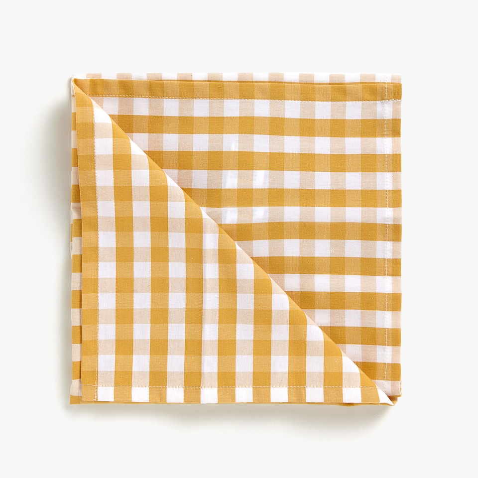 GINGHAM CHECK COTTON NAPKINS (SET OF 2)