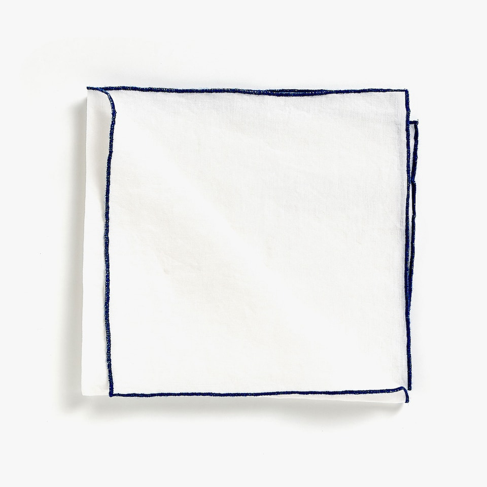 EMBROIDERED LINEN NAPKINS (SET OF 4)