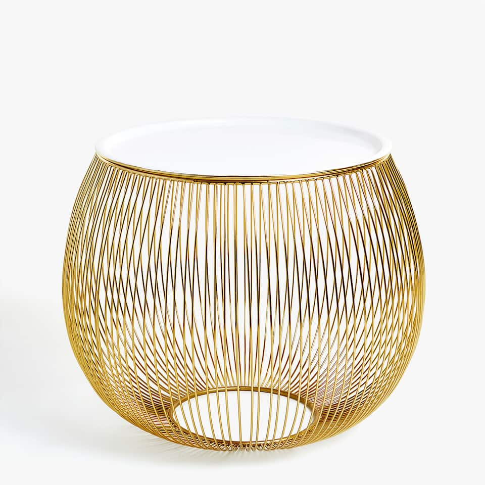 GOLDEN SPHERE SIDE TABLE