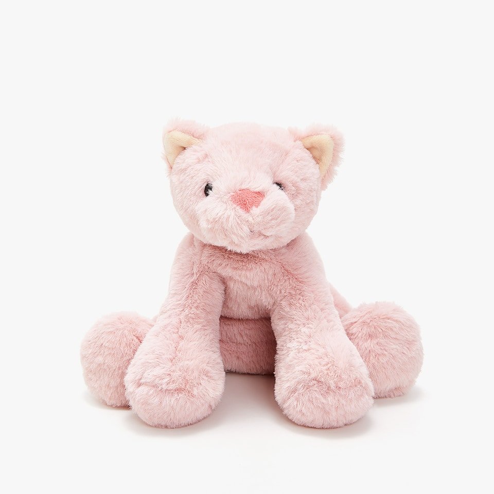 SEATED KITTEN SOFT TOY