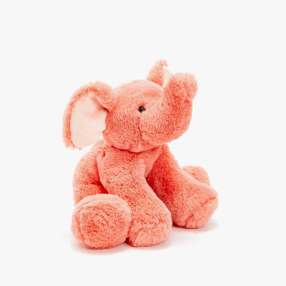 SEATED ELEPHANT SOFT TOY