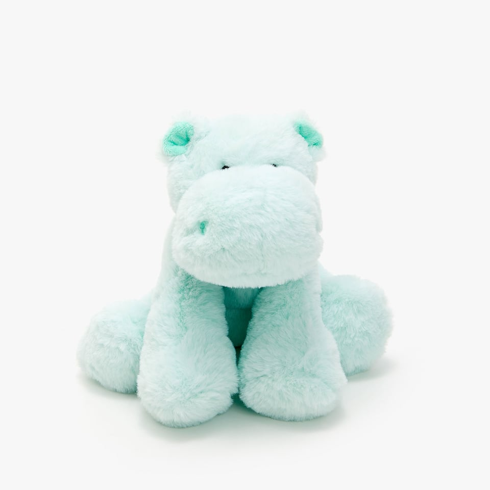 SEATED HIPPO SOFT TOY