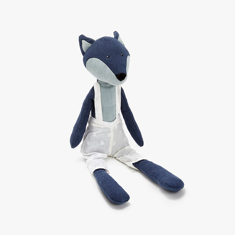 BLUE FOX SOFT TOY