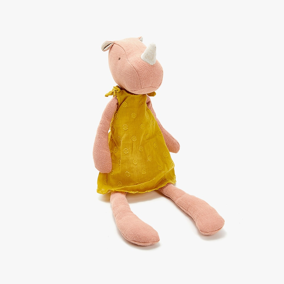 PINK RHINO SOFT TOY