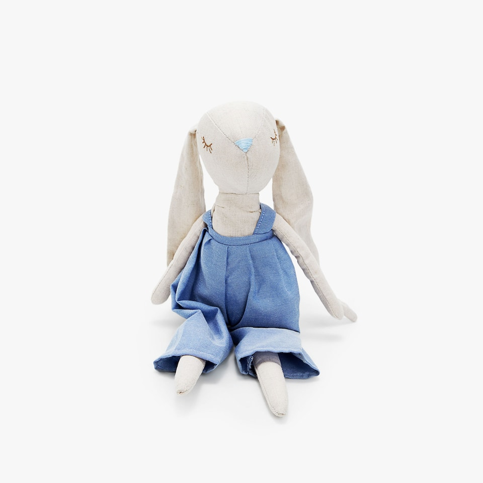 SOFT TOY BUNNY WITH LONG EARS