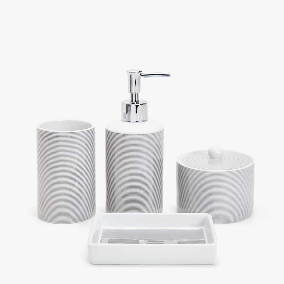 black glitter bathroom accessories. Image of the product Silver striped bathroom set Bathroom Accessories  Zara Home Autumn Winter 2017 Collection