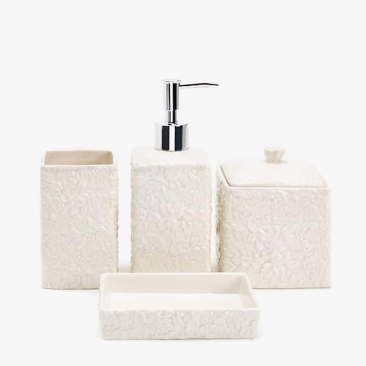 White Bathroom Accessories Uk bath accessories - bathroom | zara home united kingdom