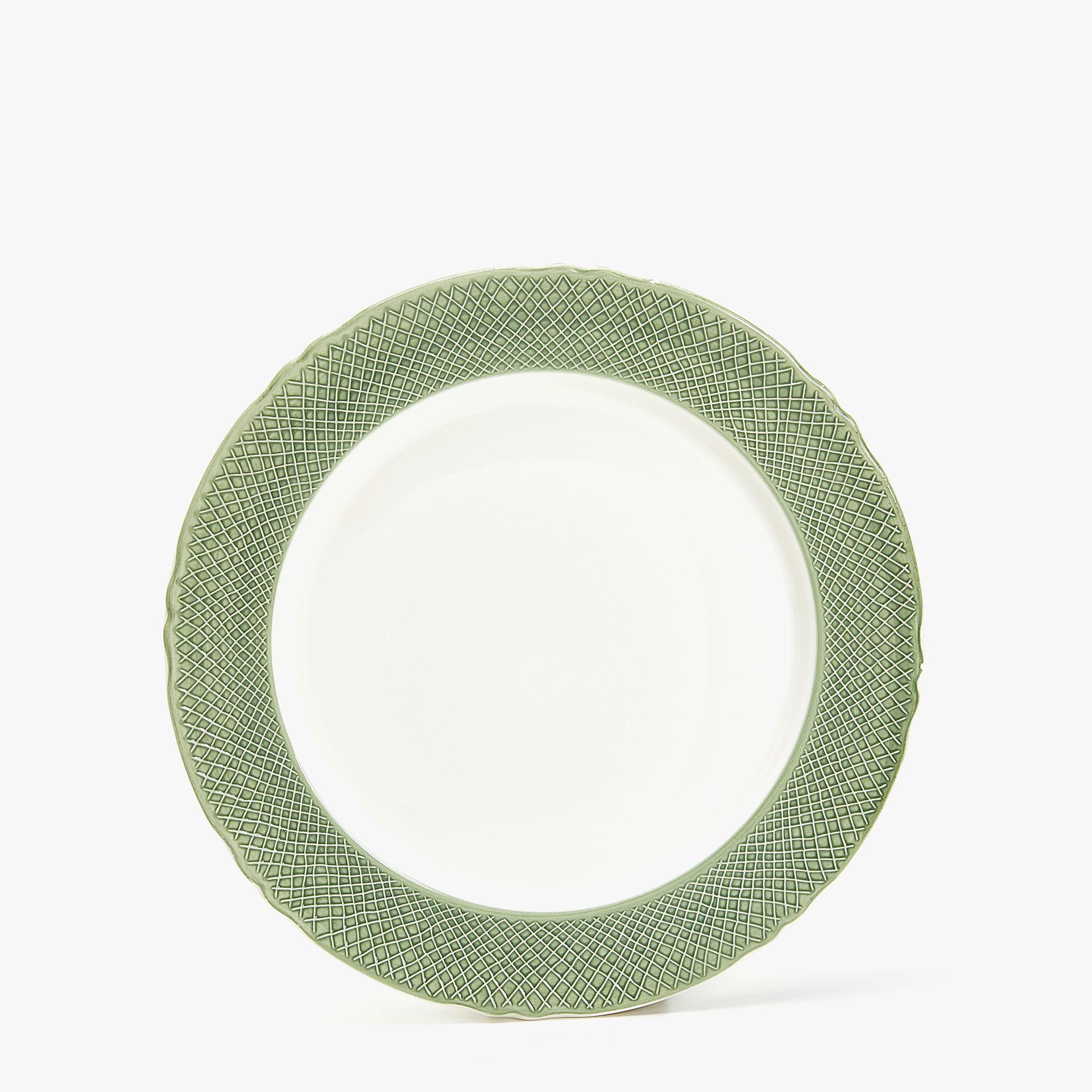 Зеленого цвета посуда столовая